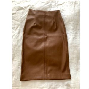 NWOT Leather Zara MIDI Skirt